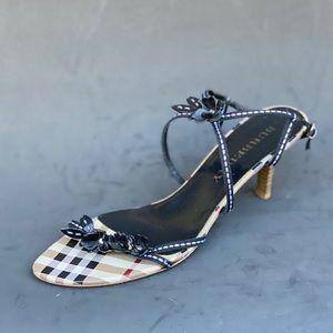BURBERRY strap kitten heel sandals